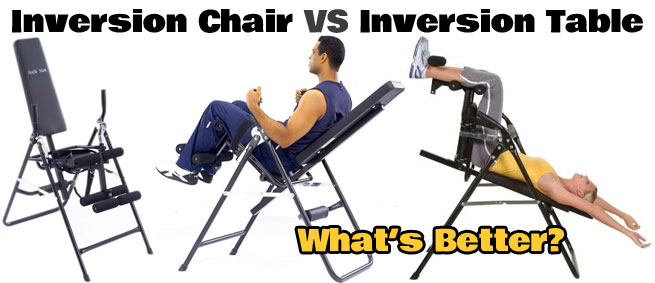 inversion chair vs inversion table