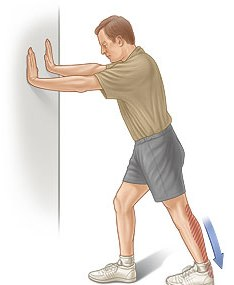 plantar fascia Wall Leg Stretch