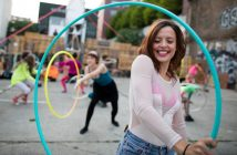 weighted hula hooping tricks
