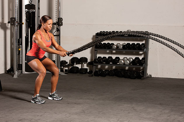 double-waves battle ropes