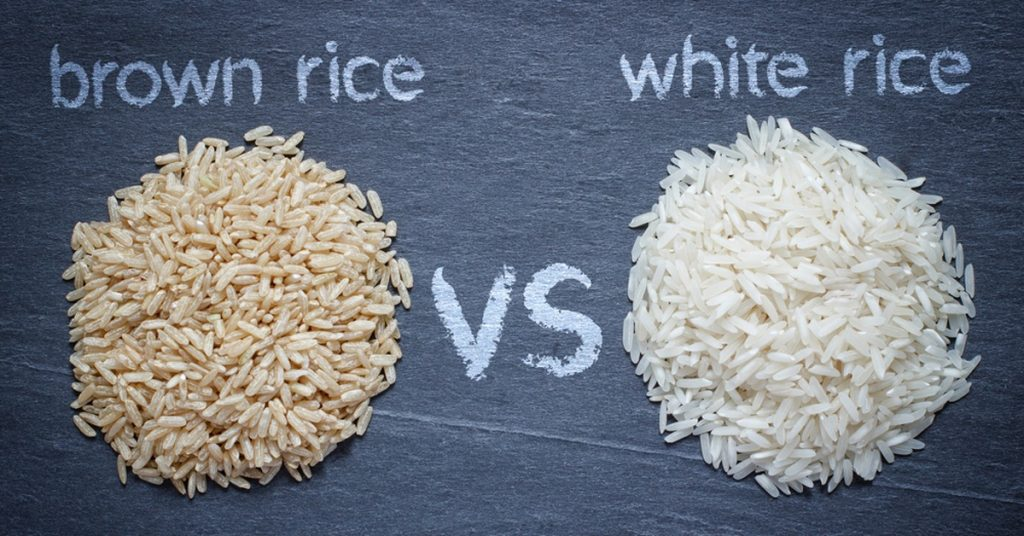 is brown & white rice fattening